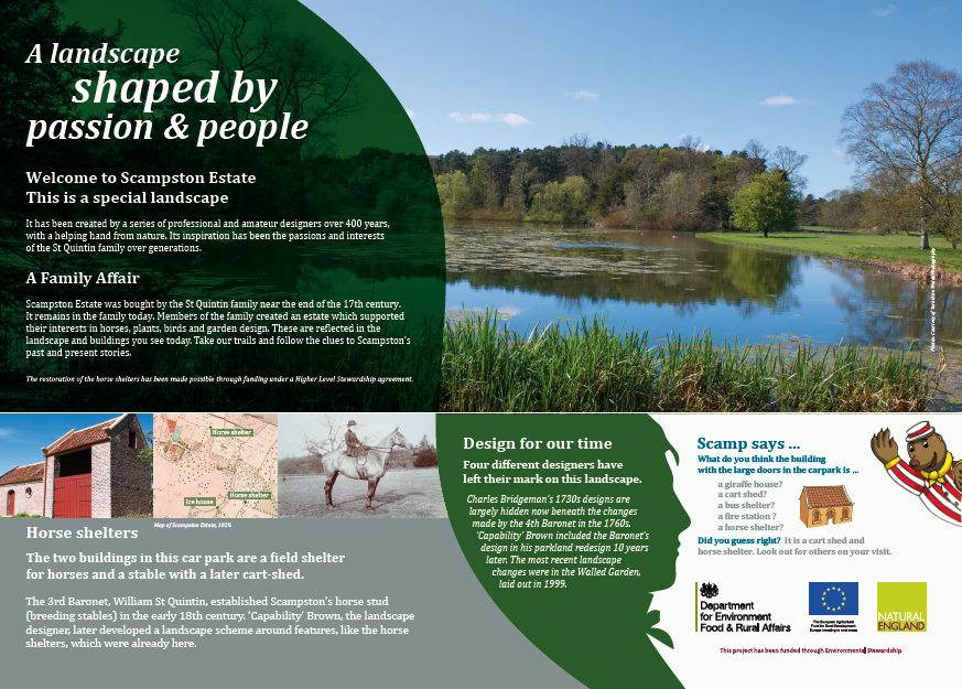 Scampston Hall Interpretation panels in 13mm ecoDura