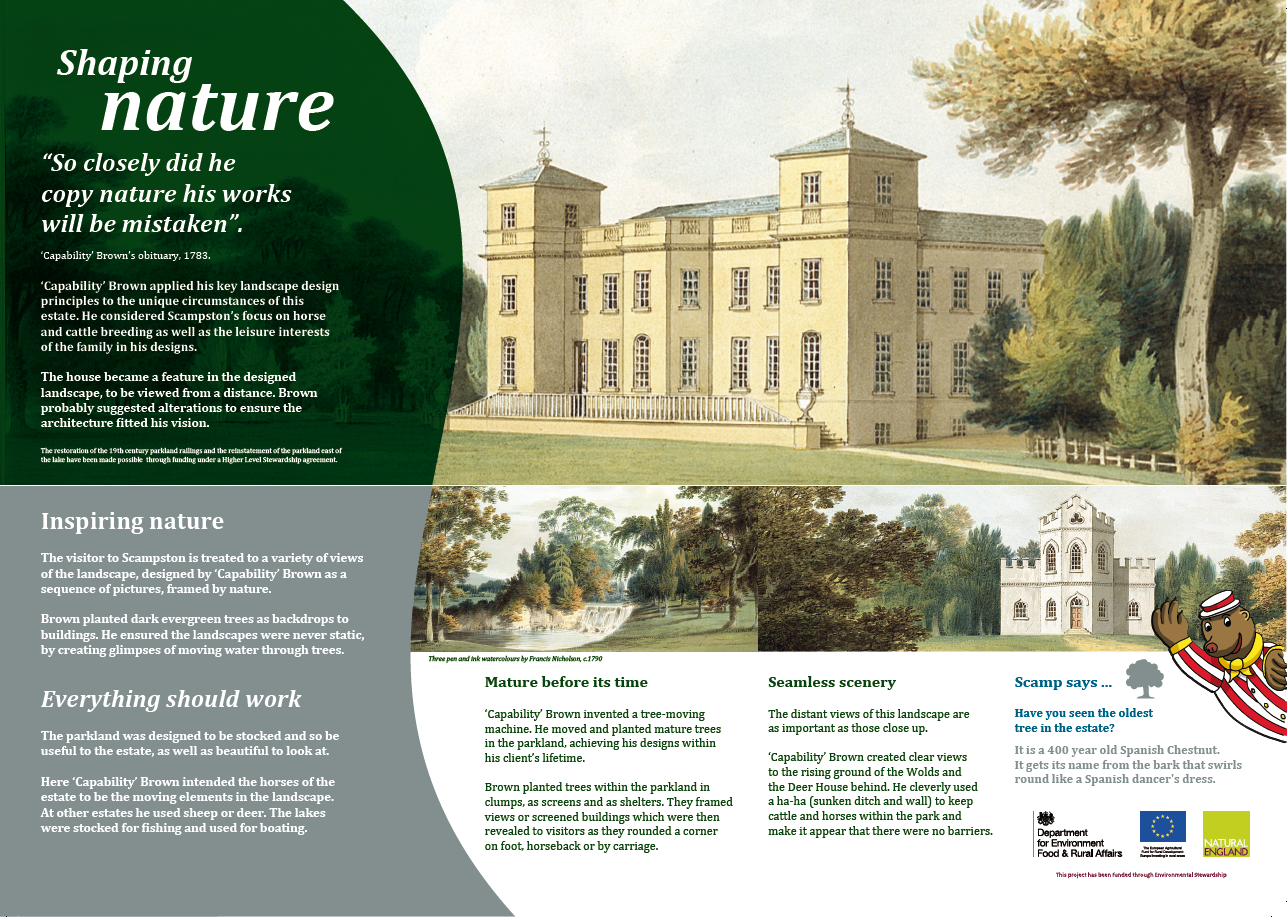 Scampston Hall Estate Interpretation panels in 13mm ecoDura