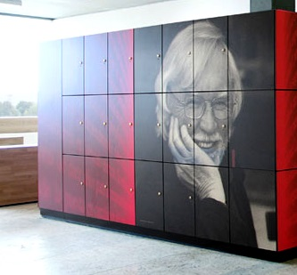 Bespoke printed design High Pressure Laminate Locker Doors