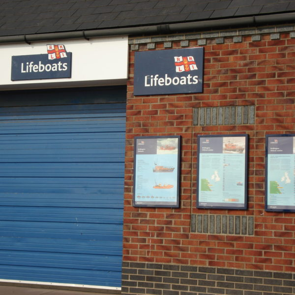 Wall Mounted Sign Trays at Bridlington Lifeboat Station