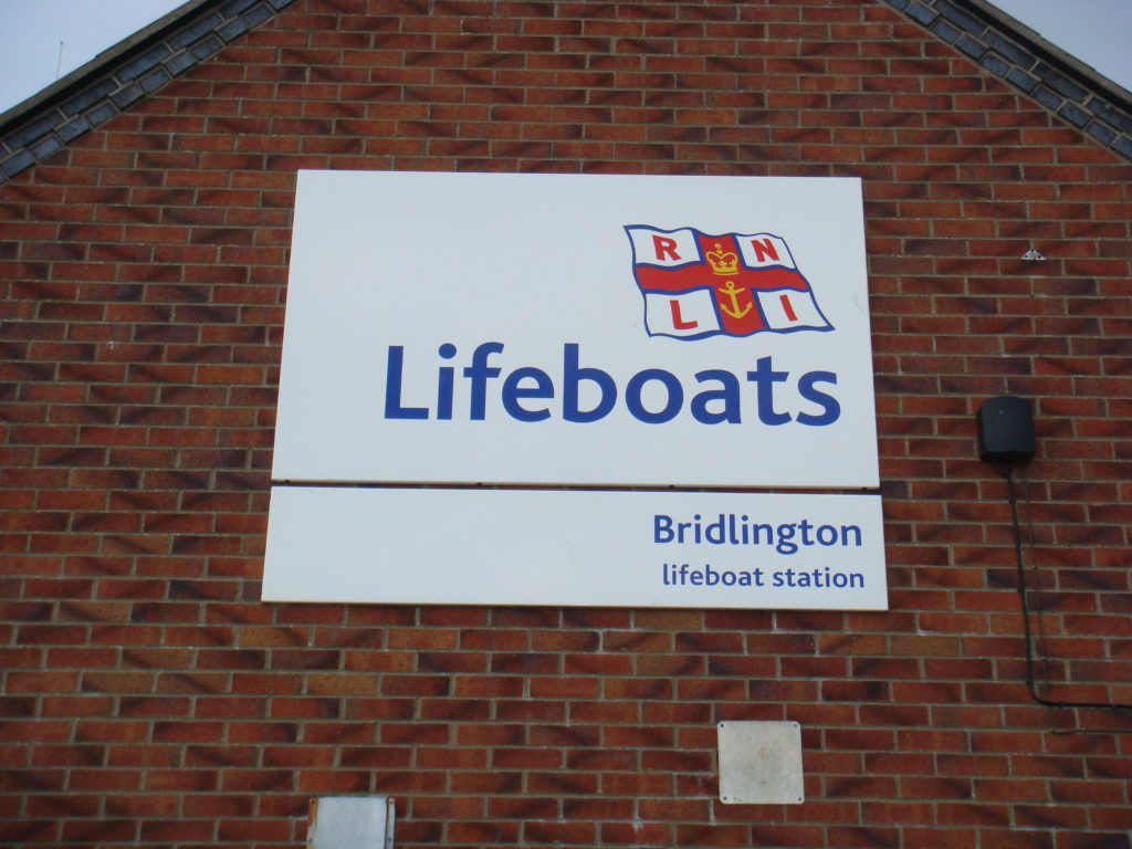 Weather Resistant Signage at the RNLI Bridlington Lifeboat Station