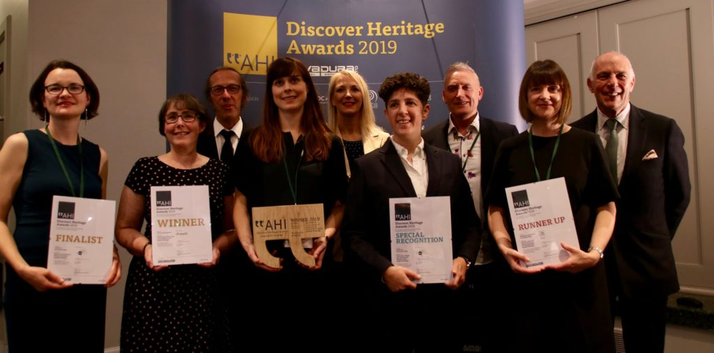 AHI Conference Discover Heritage Awards winners with Loyd Grossman and NovaDura