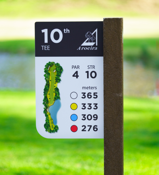 Golf Tee bed marker golf course sign in ecoDURA finish