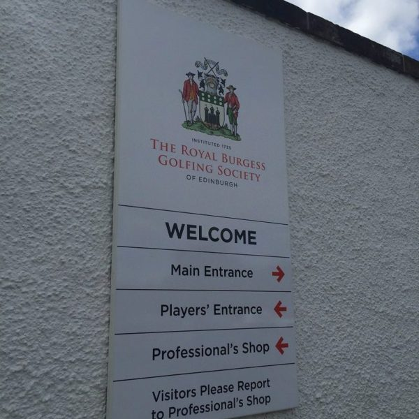 Royal Burgess Golf course Directional Sign Trays