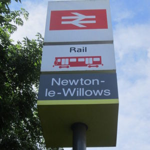 Newton-Le-Willows Network Rail Signage