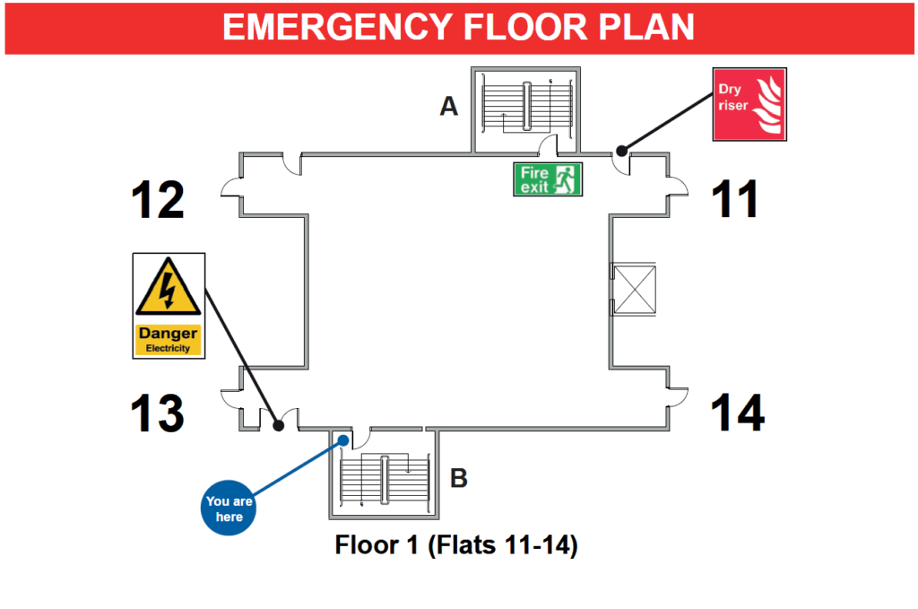 Fire Evacuation plan using primaDURA Glow