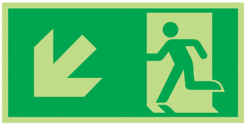 Fire-Exit-Running-Man-Diagonal-down-left-Class-D-Photoluminescent-safety-sign-300-x-150