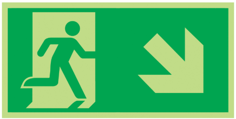 Fire-Exit-Running-Man-Diagonal-down-right-Class-D-Photoluminescent-safety-sign-300-x-150.