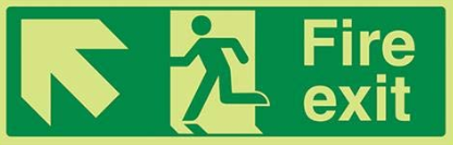 Running-Man-Diagonal-up-Left-arrow-Class-D-Photoluminescent-safety-sign-450-x-150