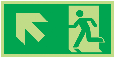Fire-Exit-Running-Man-Diagonal-up-left-Class-D-Photoluminescent-safety-sign-300-x-150