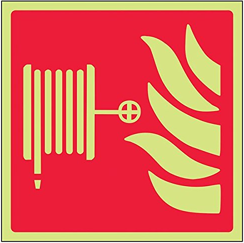 Fire-Hose-Point-Class-D-Photoluminescent-Safety-Sign-Square-150-mm-x-150-mm
