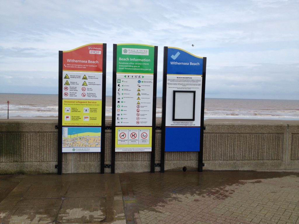 Weather Resistant Signage at Withernsea Beach