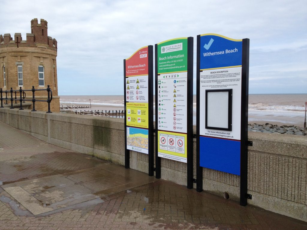 Withernsea Beach Weather Resistant Signage